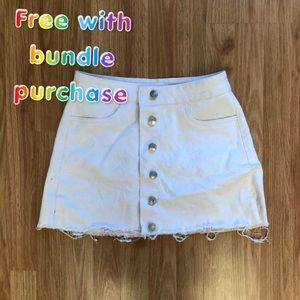 SOLD FREE WITH PURCHASE denim skirt